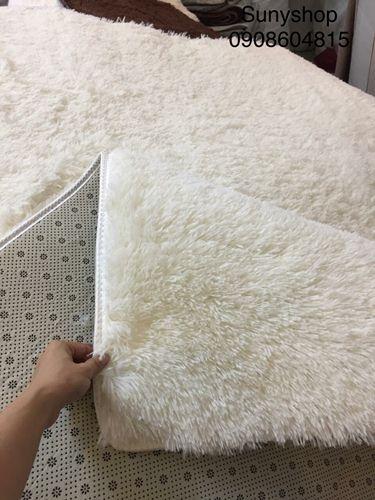 thảm lông trắng chụp hình